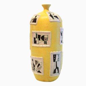 Jarrón de cerámica de Guido Gambone, años 50