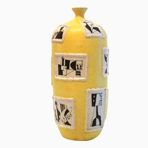 Vase en Céramique par Guido Gambone, 1950s