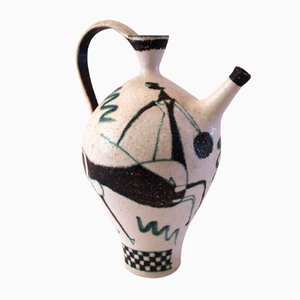 Glazed Ceramic Jug by Guido Gambone, 1950s