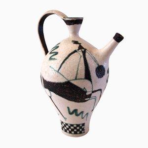 Jarra de cerámica esmaltada de Guido Gambone, años 50