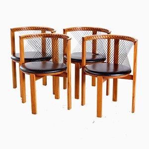 String Dining Chairs by Niels Jørgen Haugesen, 1980s, Set of 4