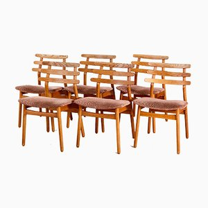 J48 Dining Chairs by Poul M. Volther, 1950s, Set of 6
