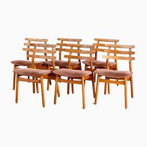 J48 Esszimmerstühle von Poul M. Volther, 1950er, 6er Set