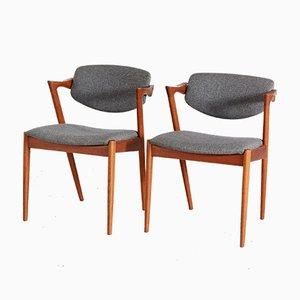 Modell 42 Teak Stuhl von Kai Kristiansen