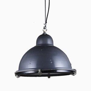 Blue Hemispherical Industrial Pendant Lamp