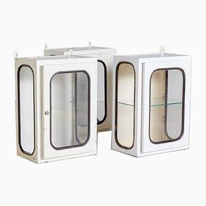 White Iron Medical Cabinet