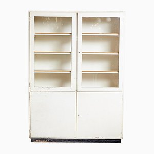 Large White Painted Medical Cabinet