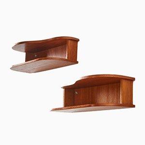 Teak Bedside Cabinet Set, Set of 2