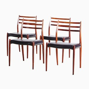 Model 78 Rosewood Chairs by Niels O. Moller, Set of 4