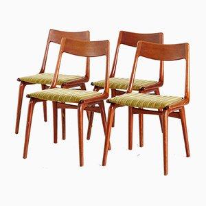 Boomerang Esszimmerstühle von Erik Christensen, 1950er, 4er Set