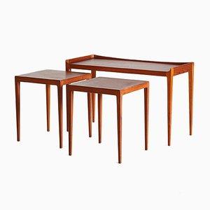 Tables Gigognes par Kurt Ostervig, 1958, Set de 3