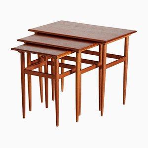 Tables Gigognes en Teck, Set de 3