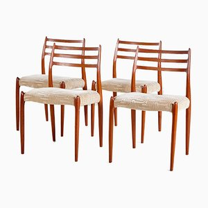 Model 78 Dining Chairs by Niels O. Møller, Set of 4