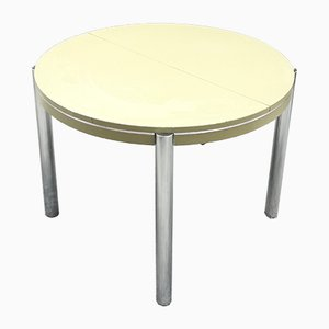 Round French Extendable Dining Table, 1970s
