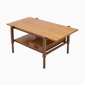 Coffee Table with Teak Top & Drawer, 1960s