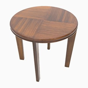 Round Wooden Coffee Table, 1940s
