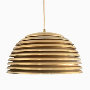 Vintage German Space Age Brass Saturno Pendant Lamp by Kazuo Motozawa for Staff