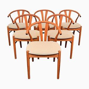 Dänische Vintage Esszimmerstühle von Findahls, 6er Set