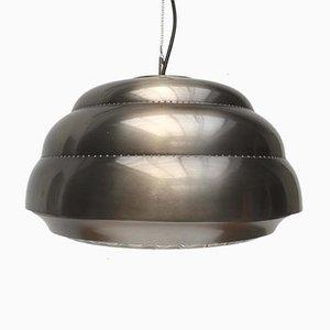 Mid-Century Metal & Glass Pendant Lamp