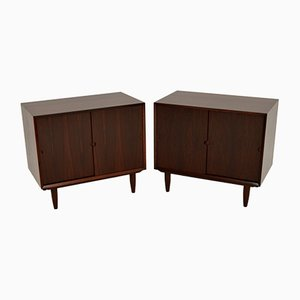 Vintage Danish Cabinets by Poul Cadovius, 1960s, Set of 2