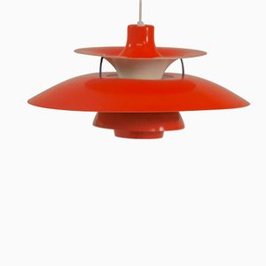 PH5 Red Pendant Light by Poul Henningsen for Louis Poulsen, 1960s