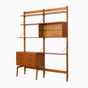 Norwegian Modular Teak Storage Wall Unit, 1960s