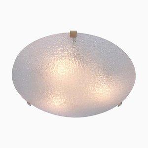 Große Österreichische Eisglas Deckenlampe von Kalmar, 1960er
