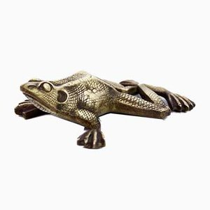 Bronze Frog Paperweight, 1950s