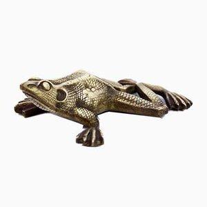 Bronze Frosch Briefbeschwerer, 1950er