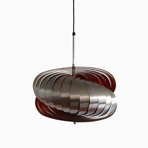 Spiral Kinetics Style Pendant Lamp by Henri Mathieu, 1970s
