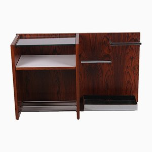Rosewood Wall Unit with Shoe Rack & Umbrella Stand, 1960s