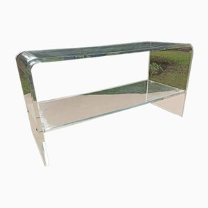 Mid-Century Plexiglass Coffee Table