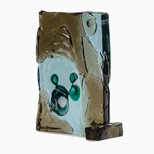 Abstrakte Skulptur aus Polychromem Glas von Alfredo Barbini, Italien, 1960er