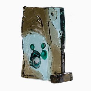 Escultura abstracta de vidrio policromado de Alfredo Barbini, Italy, años 60