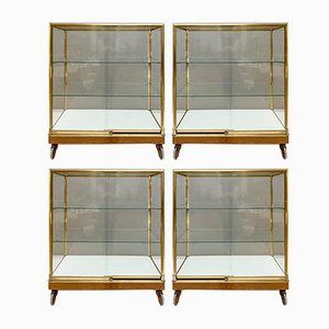 Brass 2-Door Display Cabinet, 1970s