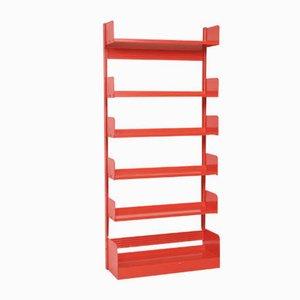 Mid-Century Italian Red Steel Model Congresso Shelf from Lips Vago, 1950s