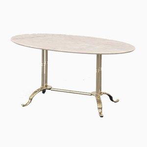 Italian Geometric Carrara Marble & Glass Coffee Table from Cattelan Italia, 1960s