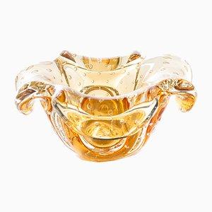 Mid-Century Decorative Handmade Bullicante Glass Bowl