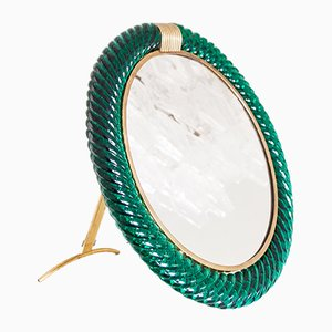 Large Italian Table Mirror by Archimede Seguso for Seguso, 1950s