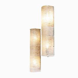 Murano Glas Wandlampen von Ercole Barovier für Barovier, 1940er, 2er Set