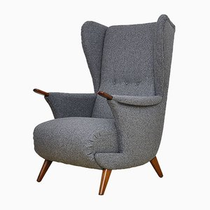 Mid-Century Danish Wing Back Armchair, 1960s