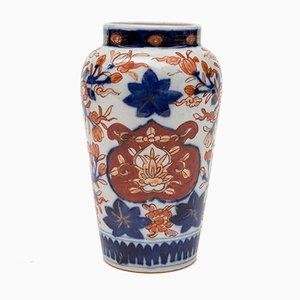 Jarrón Imari japonés antiguo de porcelana