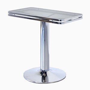 Italian Stacked Chrome and Tinted Glass Console Table from Arredamenti Allegri, 1950s