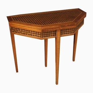Table à Jeu Marquetée 20ème Siècle, 1980s