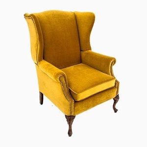 Northern European Yellow Armchair, 1940s