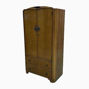 English Oak Wardrobe, 1950s