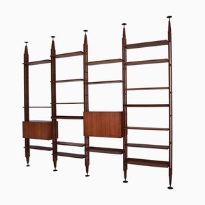 Teak Wall Unit by Franco Albini for Poggi, 1950s