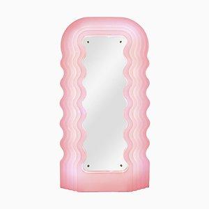 Perplex und Pink Neon Ultrafragola Spiegellampe von Ettore Sottsass