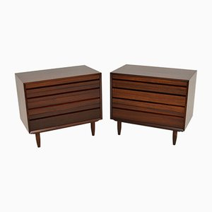 Vintage Danish Chest of Drawers by Poul Cadovius, 1960s, Set of 2
