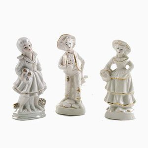Neapolitanische Charakterfiguren aus Porzellan von Capodimonte, 1920er, 3er Set